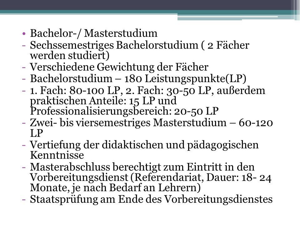 Bachelor-/ Masterstudium