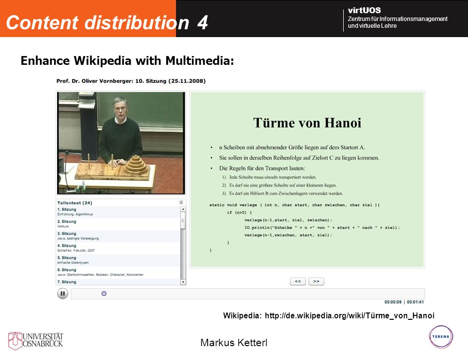 Content distribution 4 Enhance Wikipedia with Multimedia: