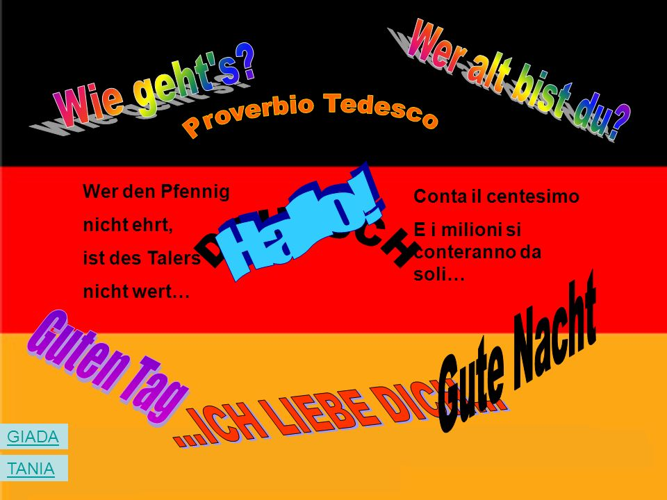 Wer alt bist du Wie geht s Proverbio Tedesco Hallo! DEUTSCH