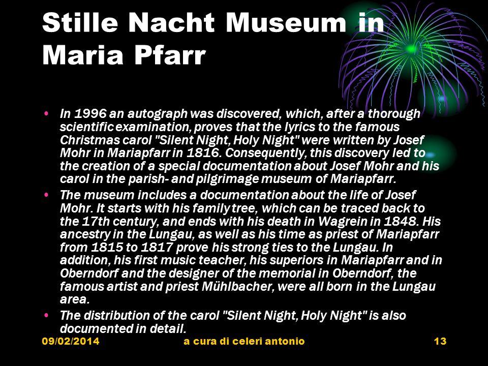 Stille Nacht Museum in Maria Pfarr