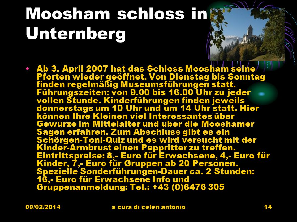 Moosham schloss in Unternberg