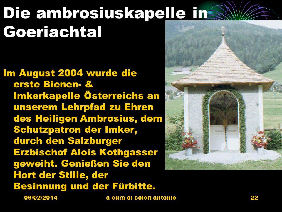 Die ambrosiuskapelle in Goeriachtal