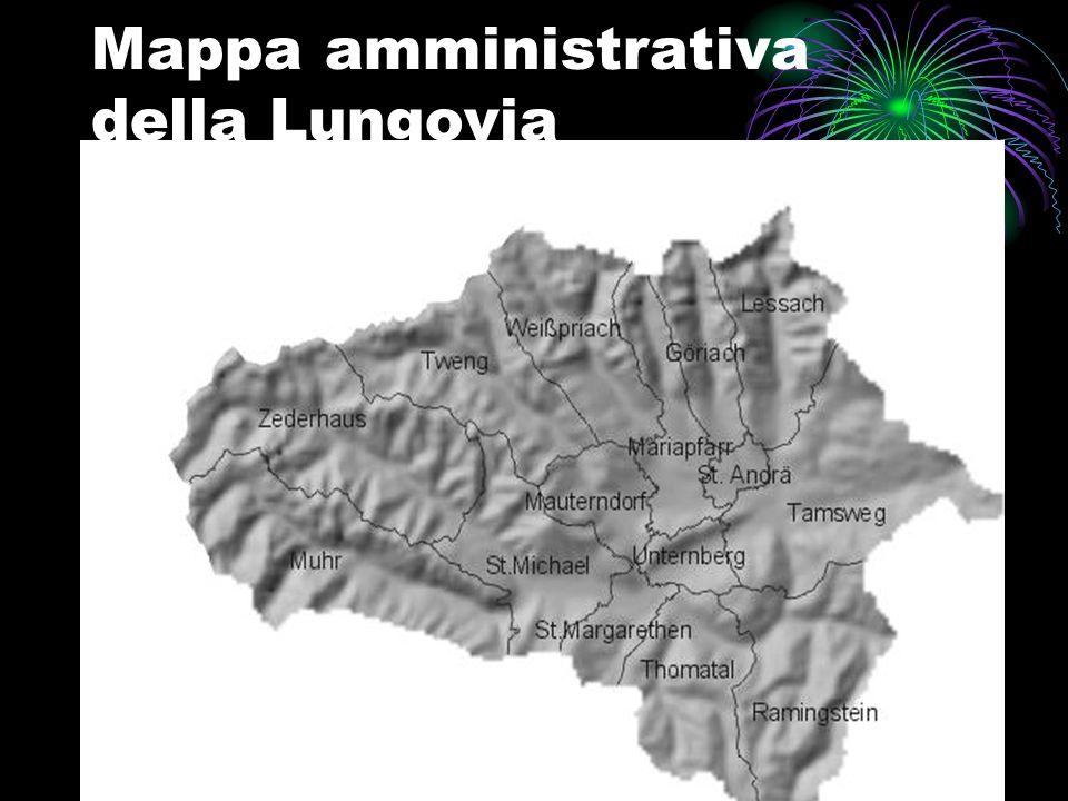 Mappa amministrativa della Lungovia