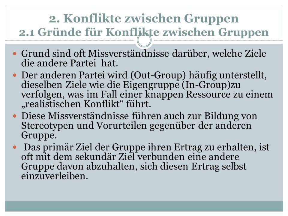 2. Konflikte zwischen Gruppen 2