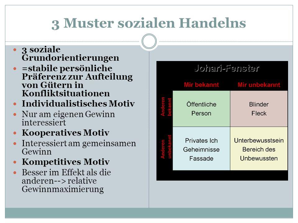 3 Muster sozialen Handelns