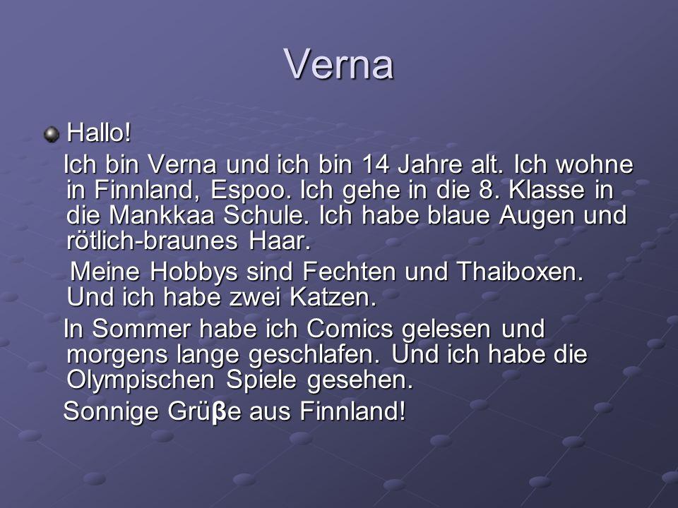 Verna Hallo!