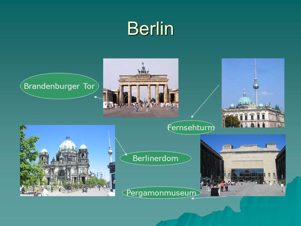 Berlin Brandenburger Tor Fernsehturm Berlinerdom Pergamonmuseum