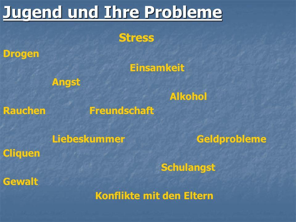Jugend und Ihre Probleme Stress
