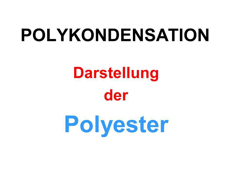 Darstellung der Polyester
