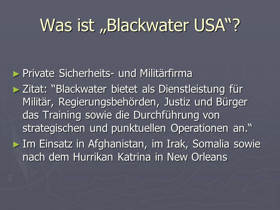 "Was ist ""Blackwater USA"