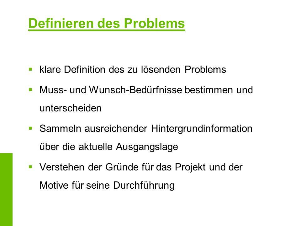 Definieren des Problems