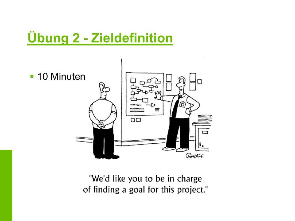 Übung 2 - Zieldefinition