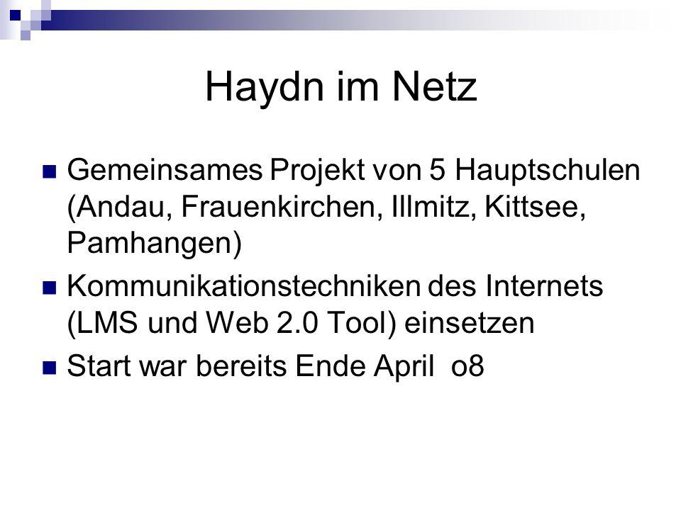 Haydn im Netz Gemeinsames Projekt von 5 Hauptschulen (Andau, Frauenkirchen, Illmitz, Kittsee, Pamhangen)