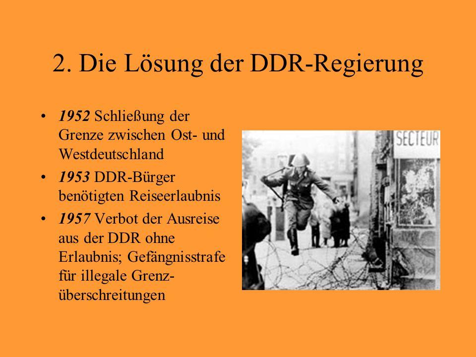 2. Die Lösung der DDR-Regierung