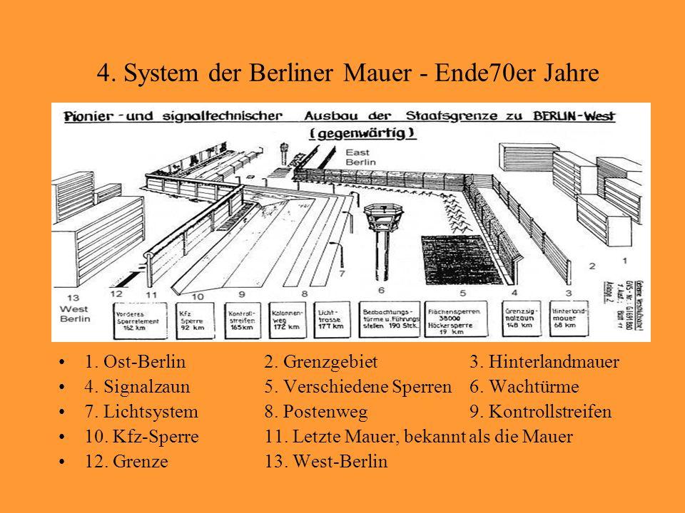 4. System der Berliner Mauer - Ende70er Jahre