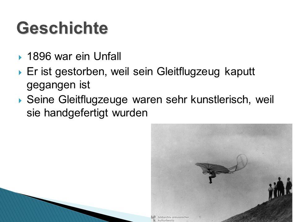 Geschichte 1896 war ein Unfall
