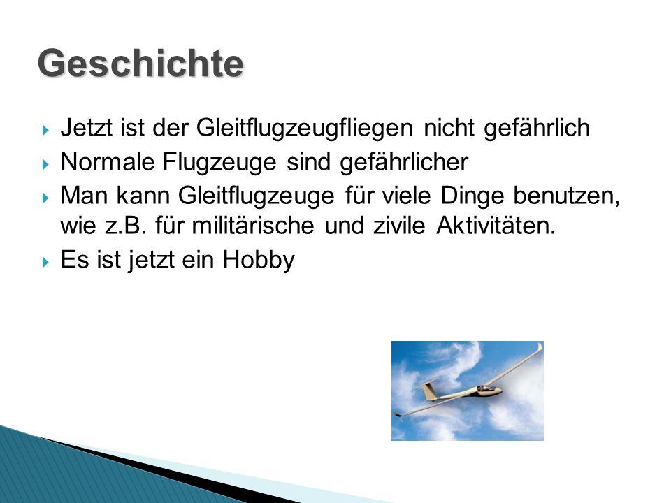 Geschichte Jetzt ist der Gleitflugzeugfliegen nicht gefährlich