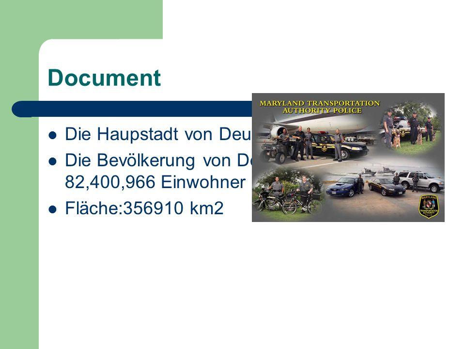 Document Die Haupstadt von Deutschland ist Berlin