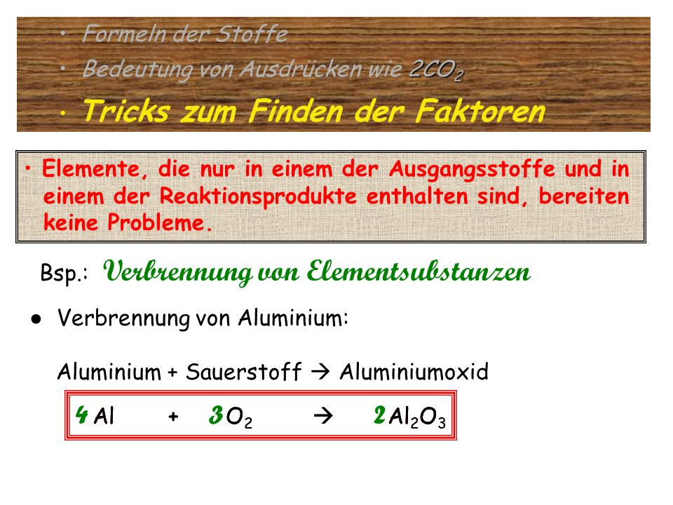 4 2 4 3 2 Formeln der Stoffe Bedeutung von Ausdrücken wie 2CO2
