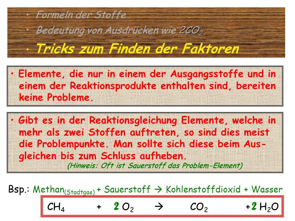 2 2 2 2 Formeln der Stoffe Bedeutung von Ausdrücken wie 2CO2