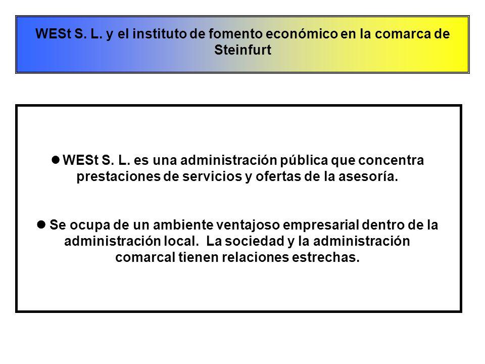  WESt S. L. es una administración pública que concentra