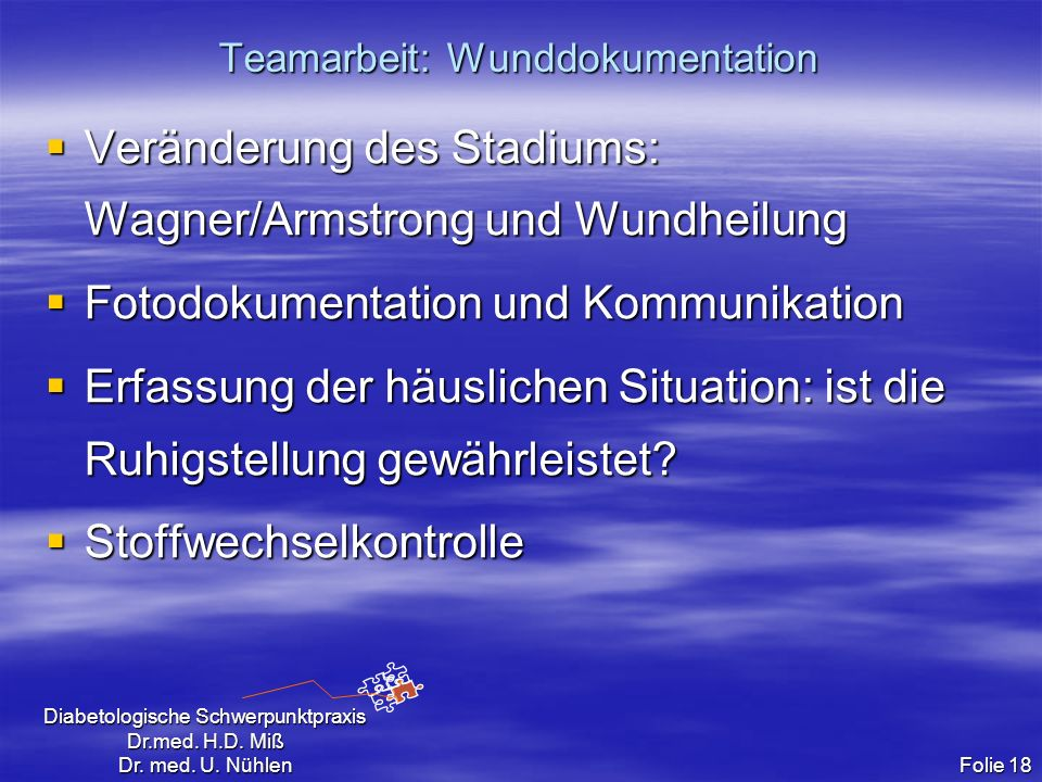 Teamarbeit: Wunddokumentation