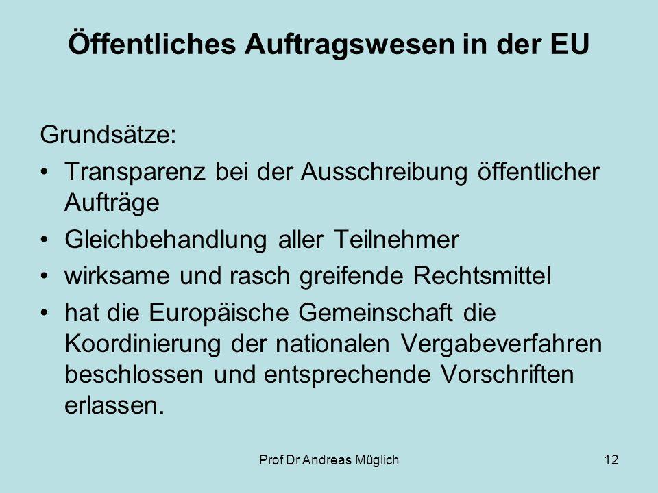 Öffentliches Auftragswesen in der EU