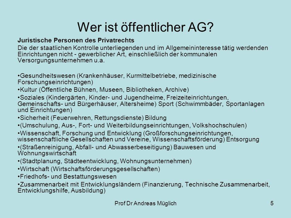 Wer ist öffentlicher AG