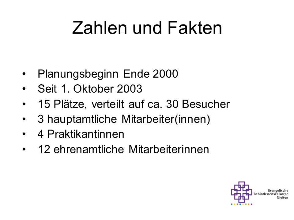 Zahlen und Fakten Planungsbeginn Ende 2000 Seit 1. Oktober 2003