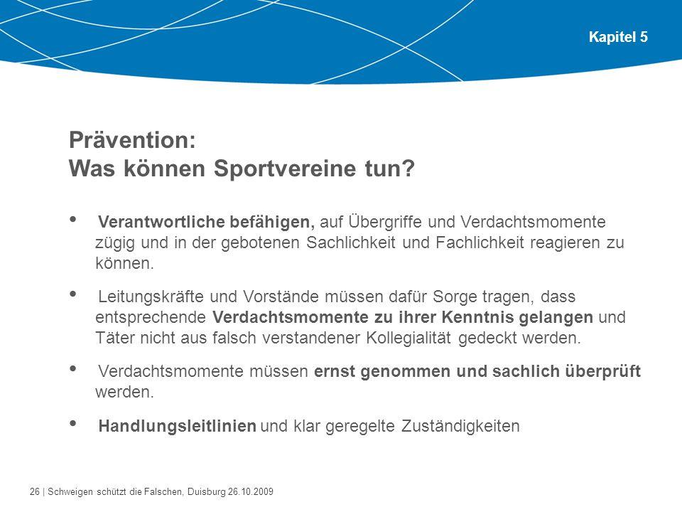 Prävention: Was können Sportvereine tun