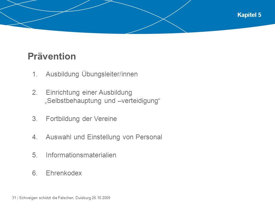Prävention Ausbildung Übungsleiter/innen
