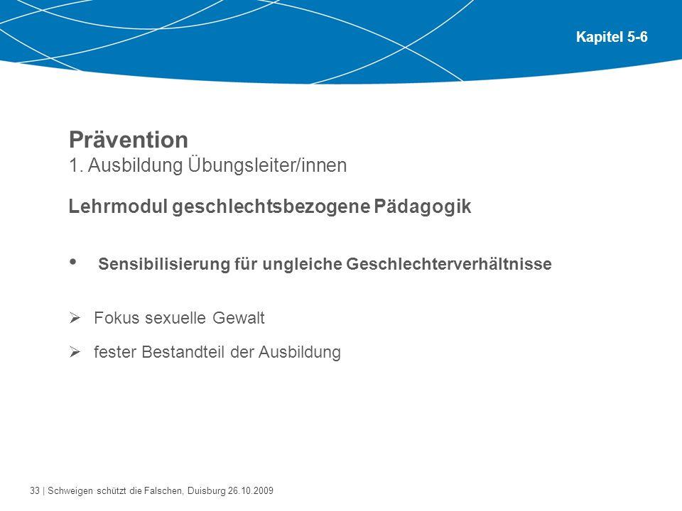 Prävention 1. Ausbildung Übungsleiter/innen