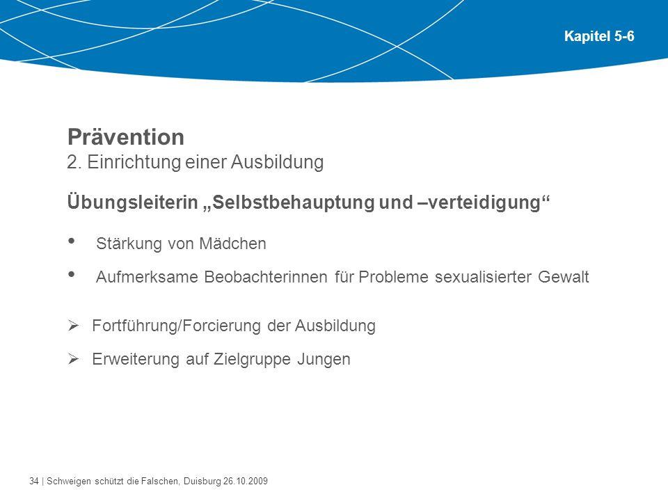 Prävention 2. Einrichtung einer Ausbildung