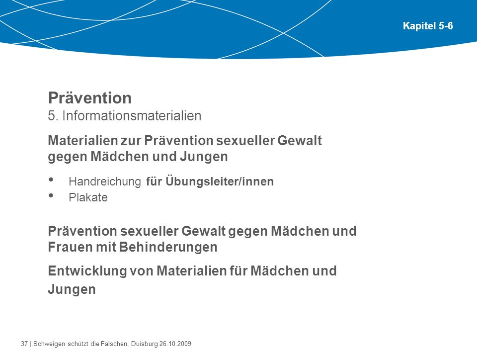 Prävention 5. Informationsmaterialien