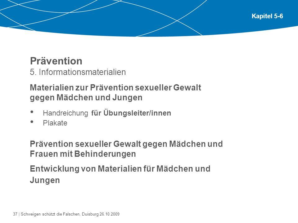 Prävention 5. Informationsmaterialien
