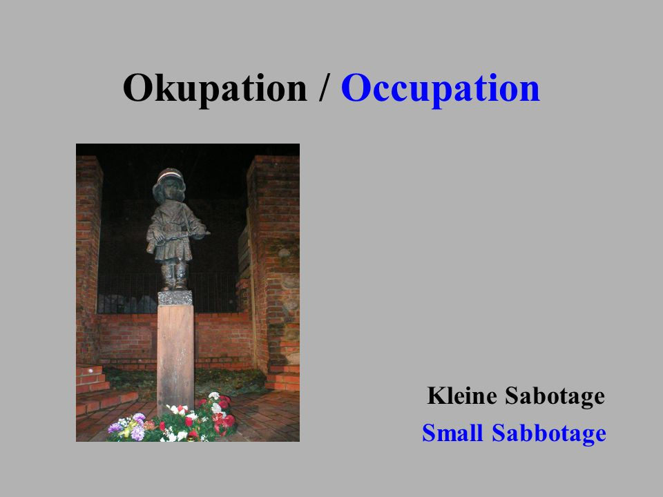 Okupation / Occupation
