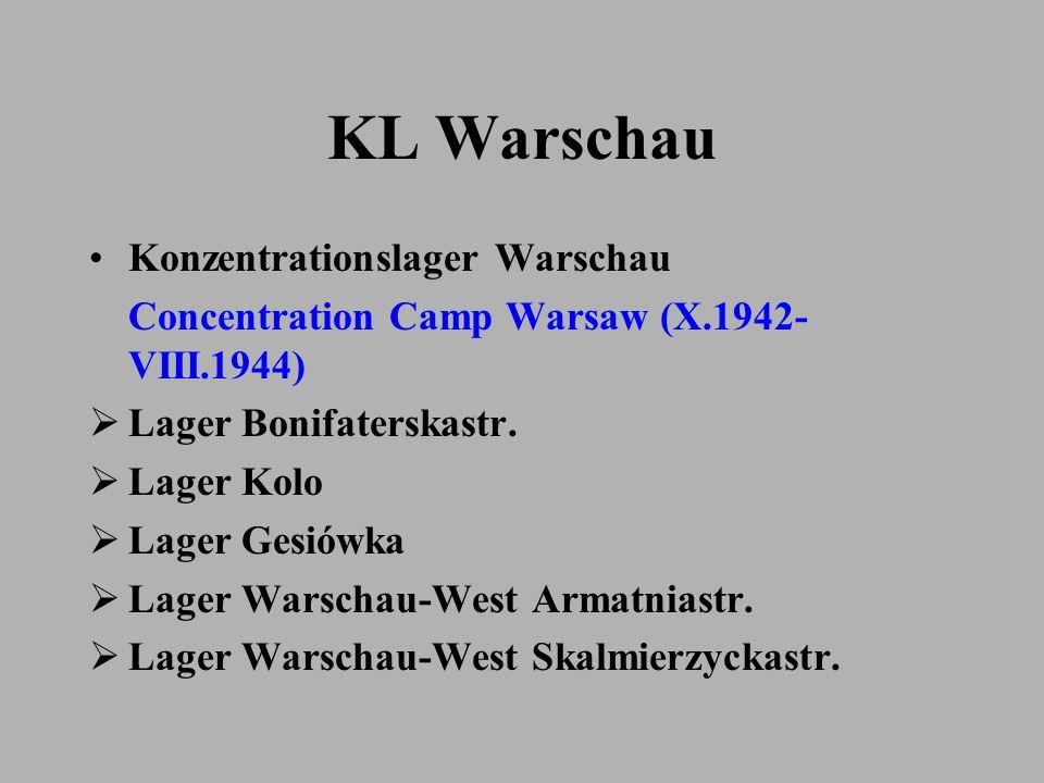 KL Warschau Konzentrationslager Warschau