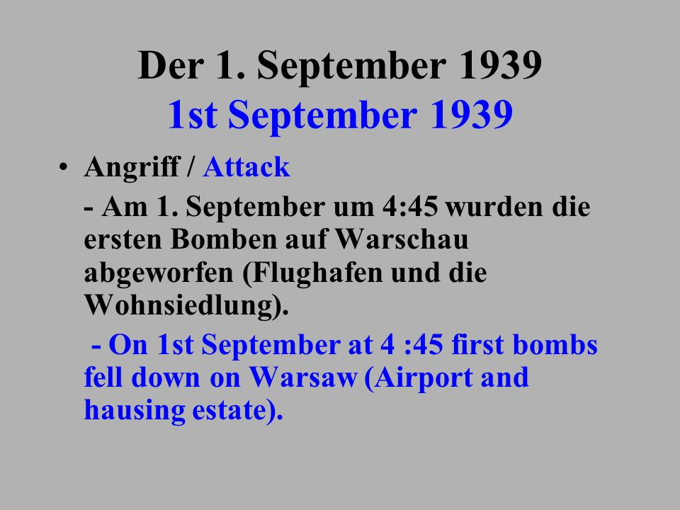 Der 1. September 1939 1st September 1939