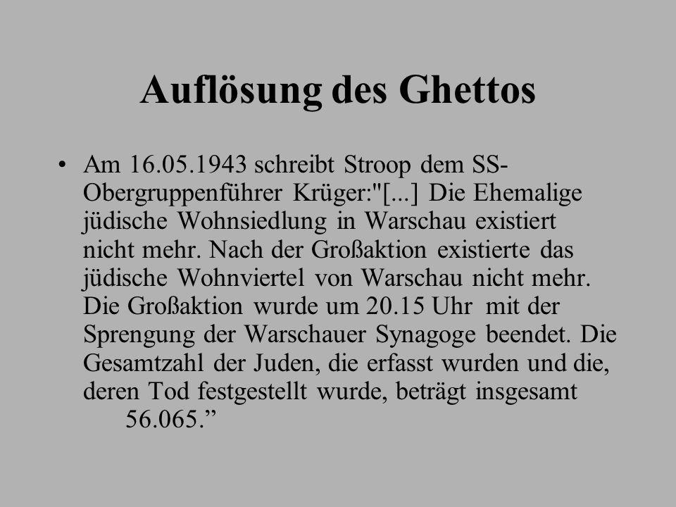 Auflösung des Ghettos