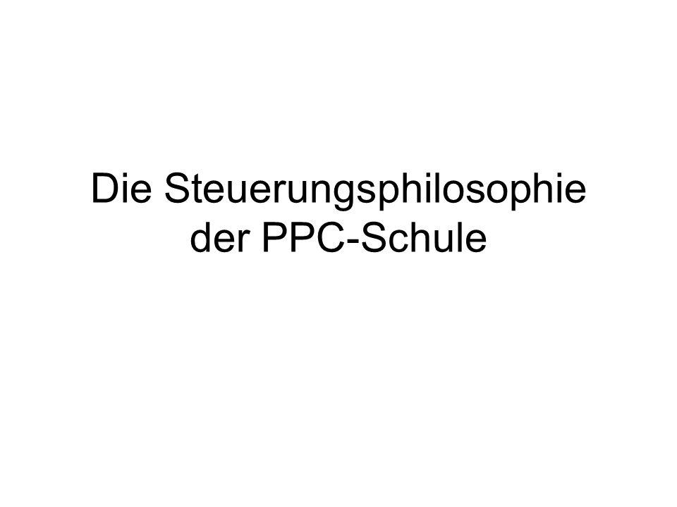 Die Steuerungsphilosophie der PPC-Schule