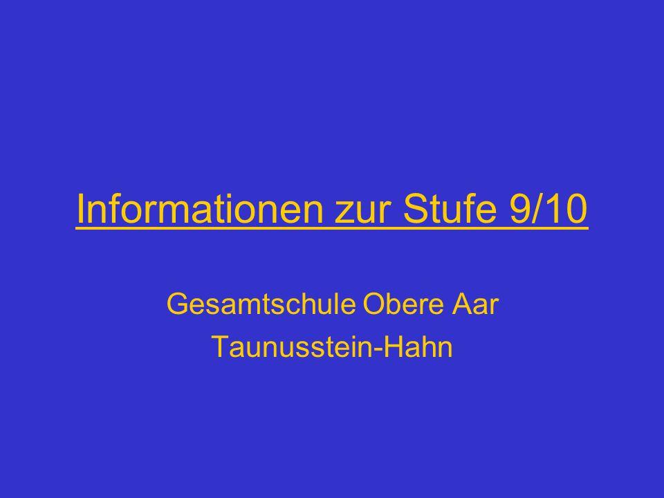 Informationen zur Stufe 9/10