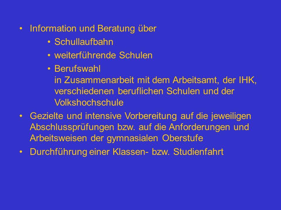 Information und Beratung über
