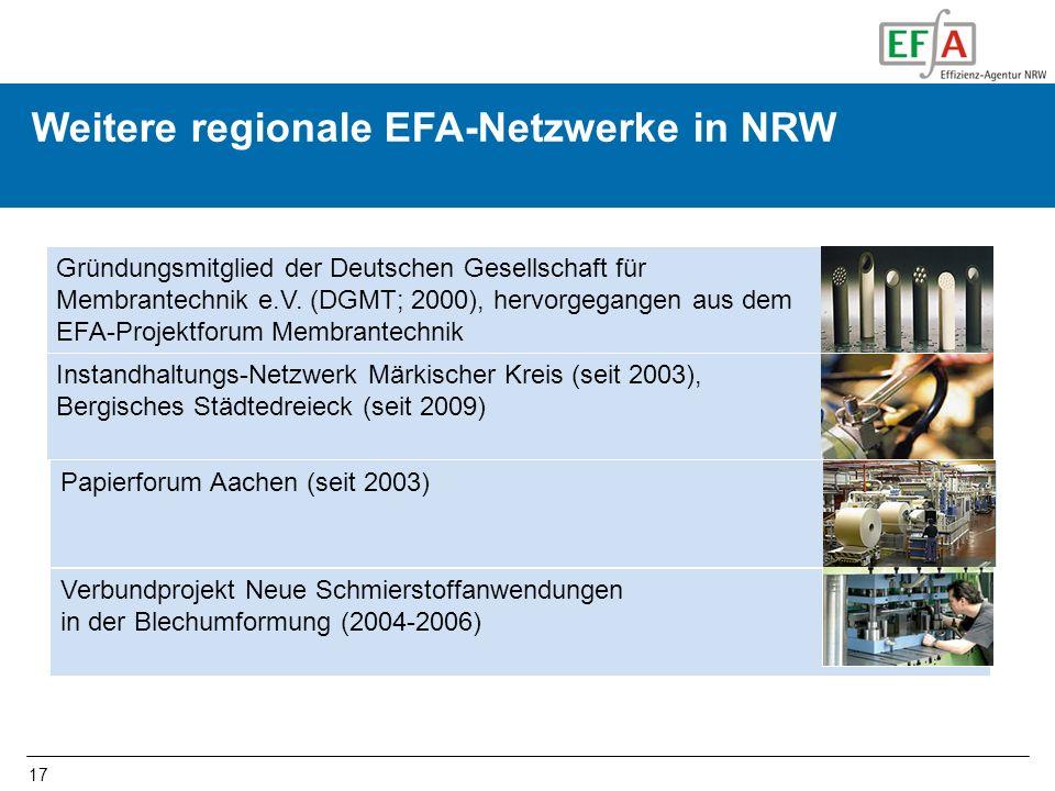 FOOD-ProMat Weitere regionale EFA-Netzwerke in NRW