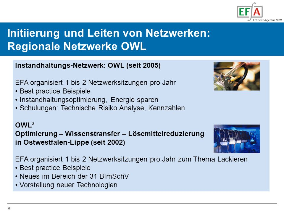 Initiierung und Leiten von Netzwerken: Regionale Netzwerke OWL
