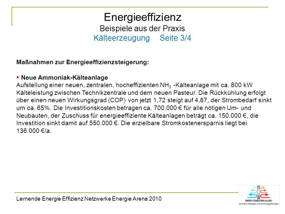 Energieeffizienz Beispiele aus der Praxis Kälteerzeugung Seite 3/4