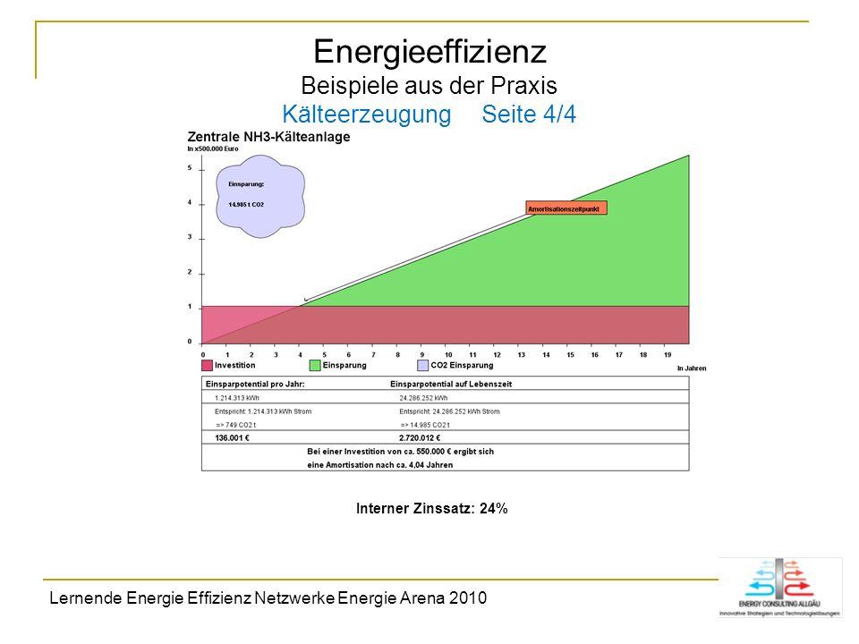 Energieeffizienz Beispiele aus der Praxis Kälteerzeugung Seite 4/4