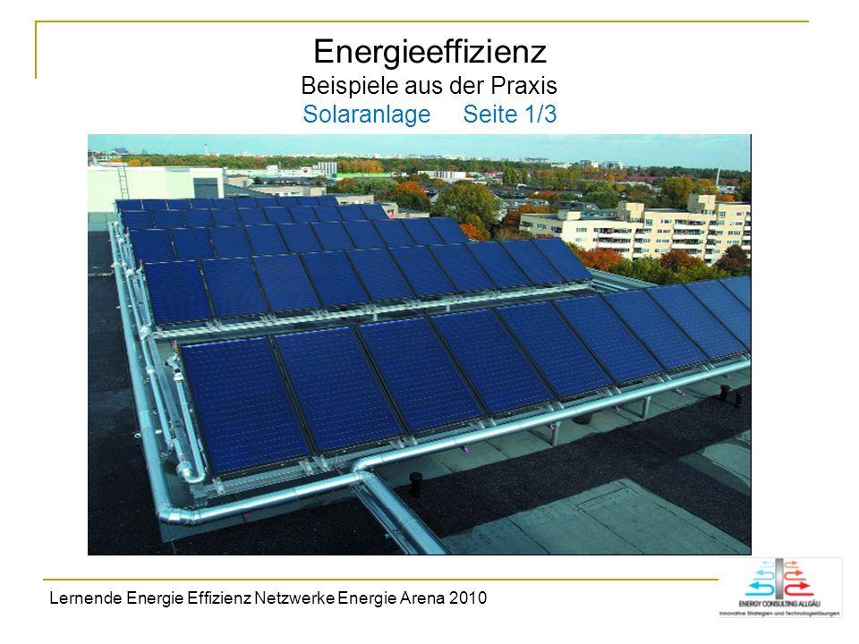 Energieeffizienz Beispiele aus der Praxis Solaranlage Seite 1/3