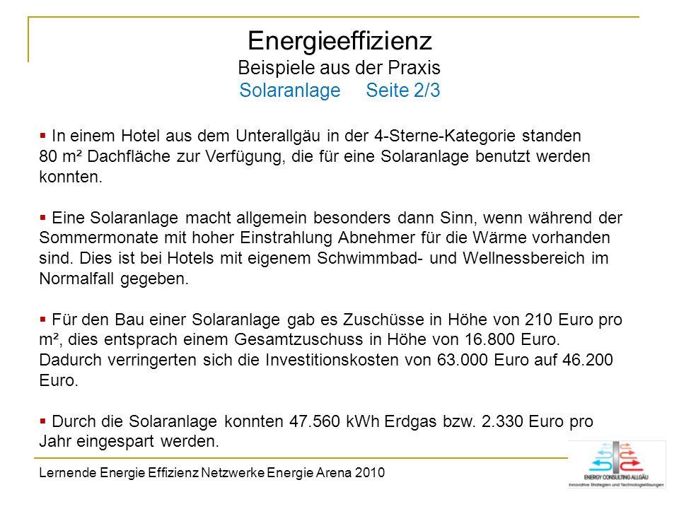 Energieeffizienz Beispiele aus der Praxis Solaranlage Seite 2/3