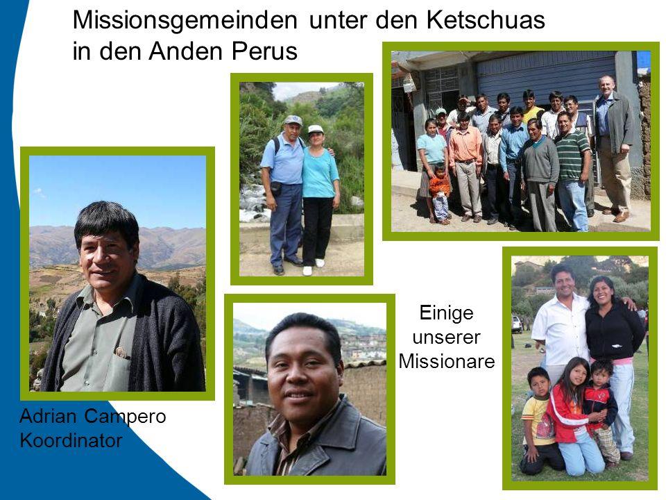 Missionsgemeinden unter den Ketschuas in den Anden Perus