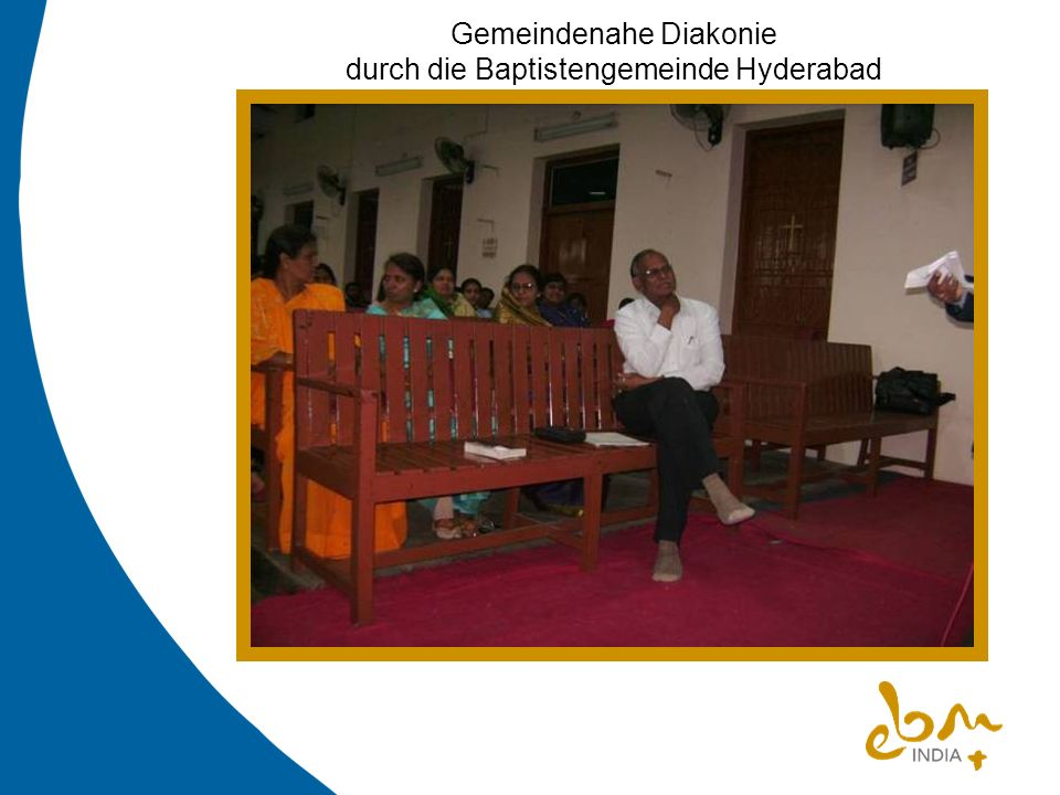 Gemeindenahe Diakonie durch die Baptistengemeinde Hyderabad